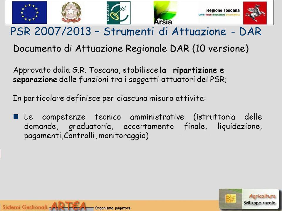 Documento di Attuazione Regionale DAR (10 versione) Approvato dalla G.R.