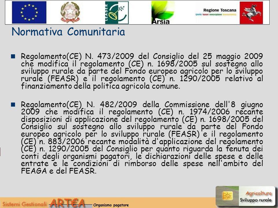 il Piano di Sviluppo Rurale della Regione Toscana 2007-2013, approvato dalla Commissione delle Comunità Europee con Decisione C(2007) n.