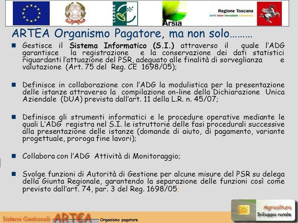 Gestisce il Sistema Informatico (S.I.) attraverso il quale lADG garantisce la registrazione e la conservazione dei dati statistici riguardanti lattuazione del PSR, adeguato alle finalità disorveglianza e valutazione (Art.