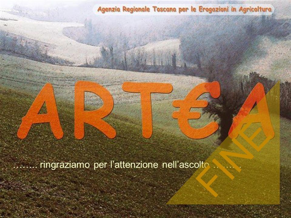 ARTA Organismo pagatore Agenzia Regionale Toscana per le Erogazioni in Agricoltura 17 ARTEA - 2005 …….. ringraziamo per lattenzione nellascolto ……… FI