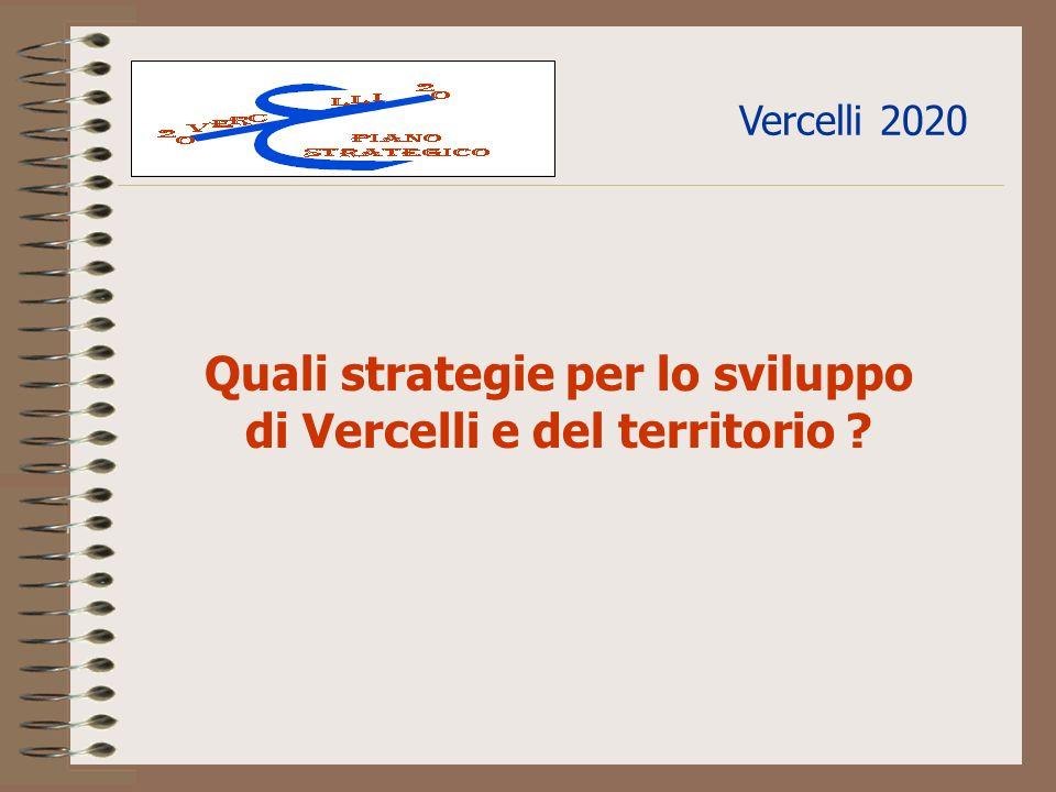 Vercelli 2020 Quali strategie per lo sviluppo di Vercelli e del territorio ?