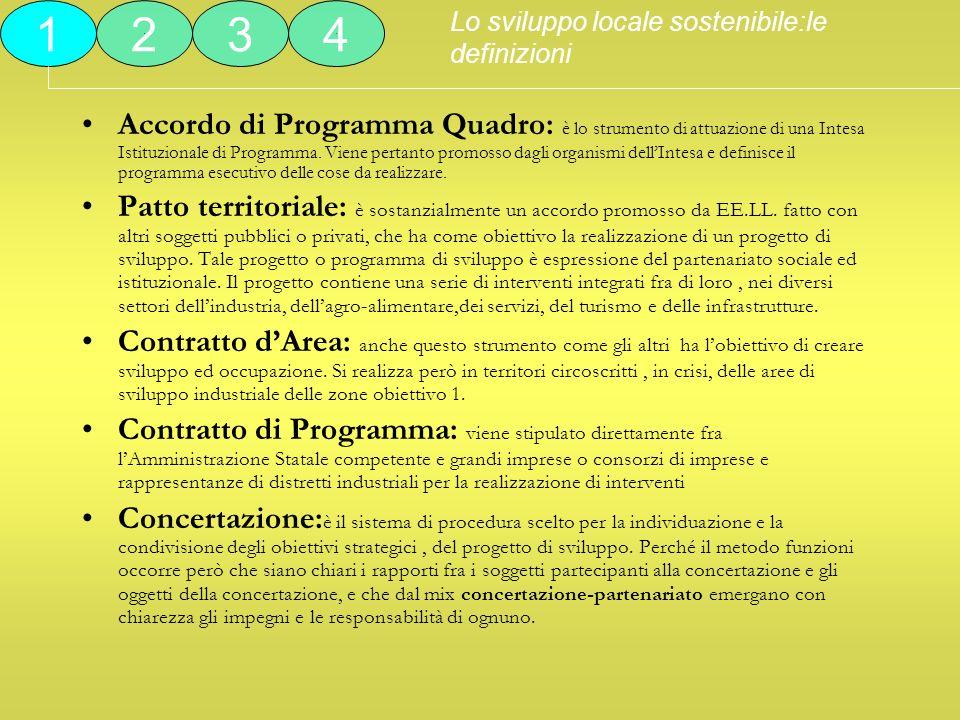 Accordo di Programma Quadro: è lo strumento di attuazione di una Intesa Istituzionale di Programma. Viene pertanto promosso dagli organismi dellIntesa