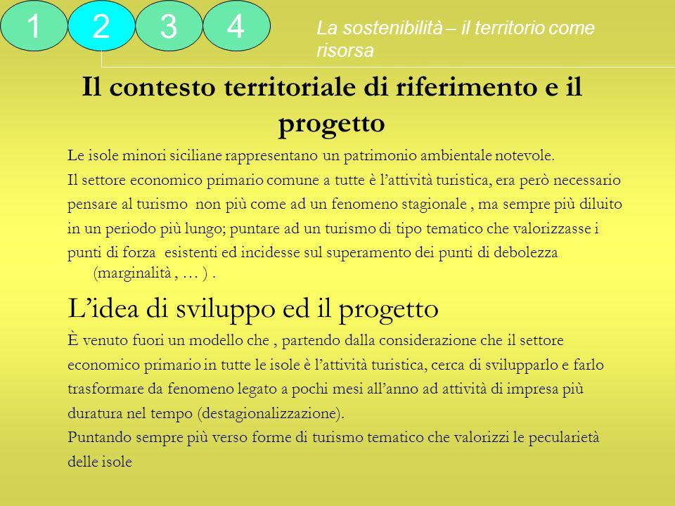 Il contesto territoriale di riferimento e il progetto Le isole minori siciliane rappresentano un patrimonio ambientale notevole. Il settore economico