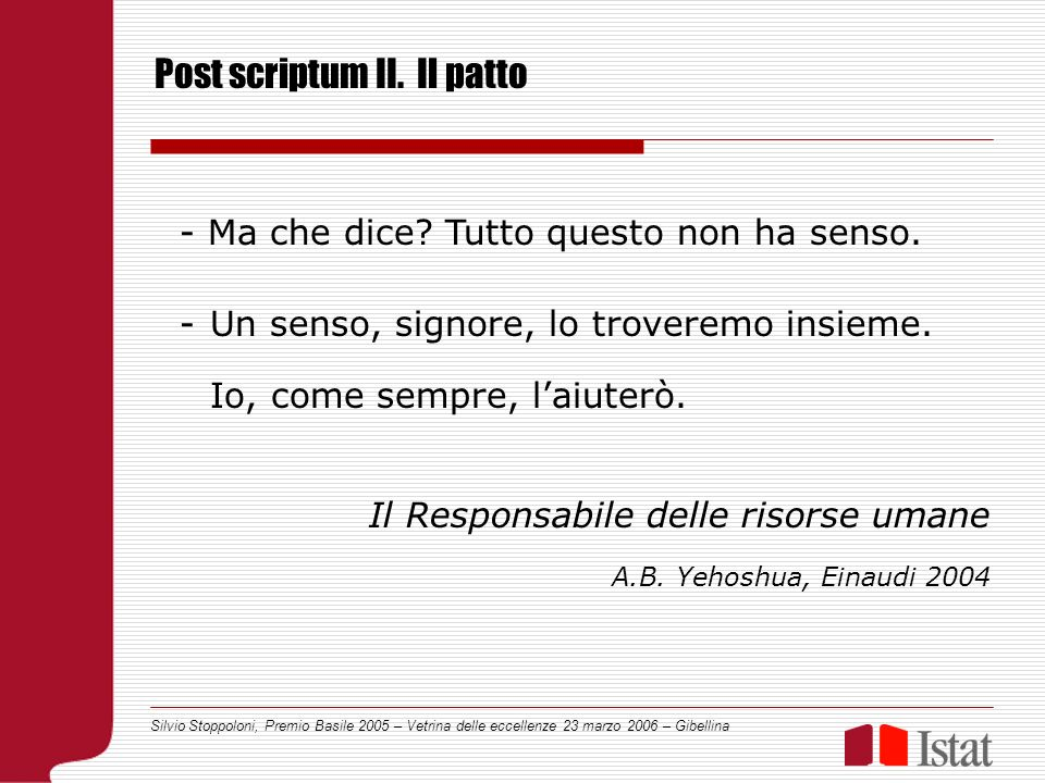 Silvio Stoppoloni, Premio Basile 2005 – Vetrina delle eccellenze 23 marzo 2006 – Gibellina - Ma che dice.