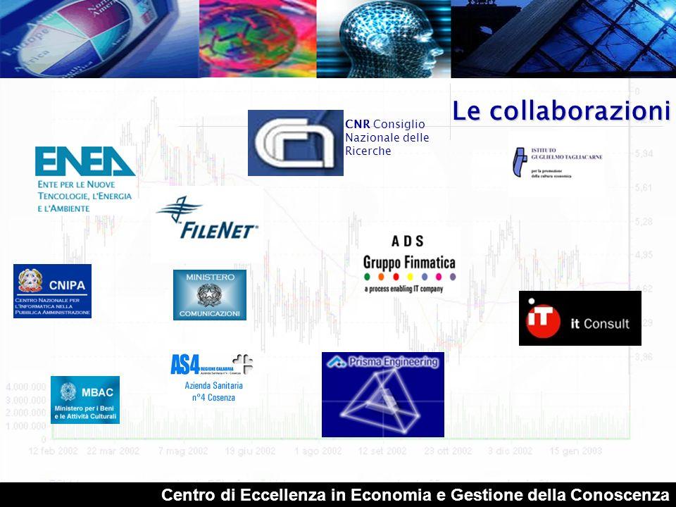 Centro di Eccellenza in Economia e Gestione della Conoscenza Le azioni coordinare una vasta gamma di competenze disciplinari e di esperienze presenti