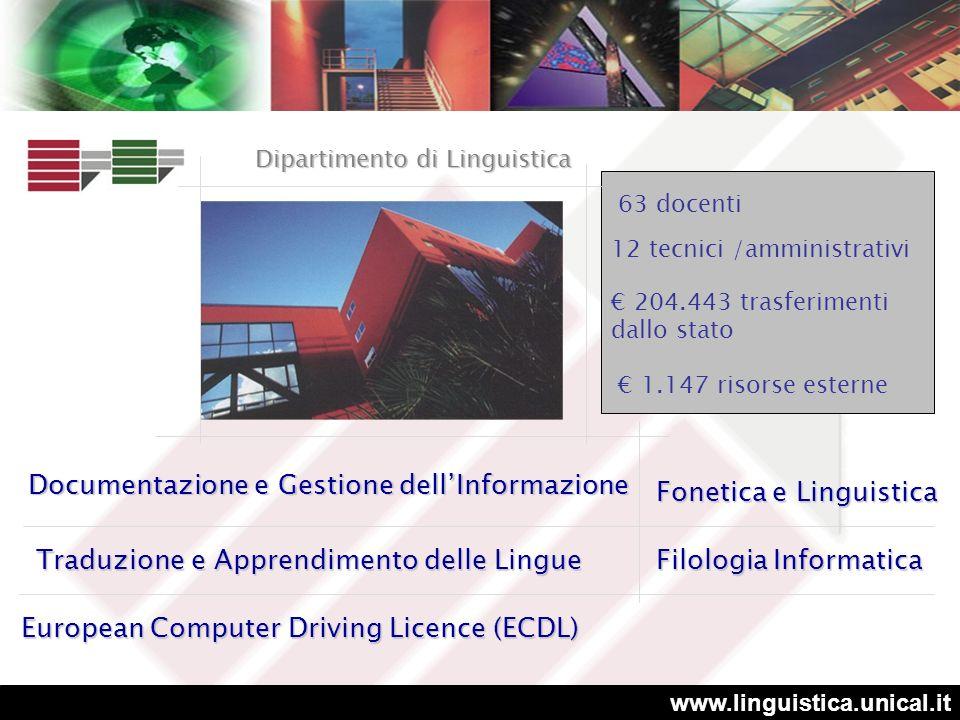 www.unical.it Per la terza volta consecutiva prima tra le università medie e tra le prime dieci in assoluto (censis)