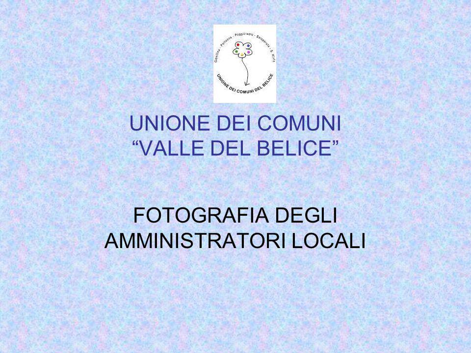 UNIONE DEI COMUNI VALLE DEL BELICE FOTOGRAFIA DEGLI AMMINISTRATORI LOCALI