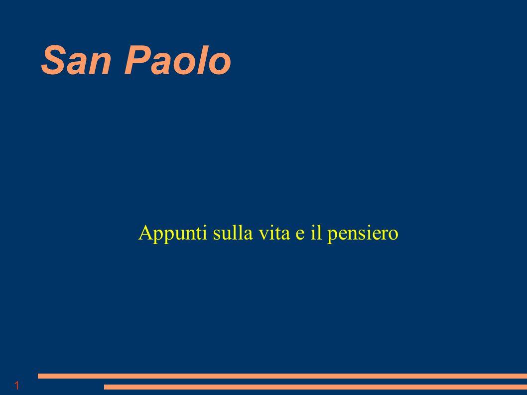 1 San Paolo Appunti sulla vita e il pensiero