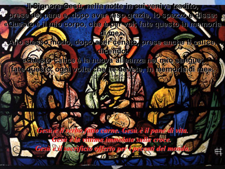 Gesù è il verbo fatto carne. Gesù è il pane di vita. Gesù è la vittima immolata sulla croce. Gesù è il sacrificio offerto per i peccati del mondo. Mad