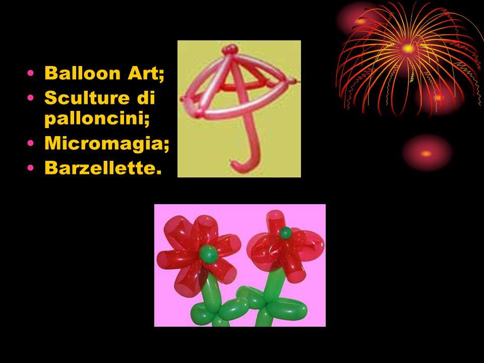 Balloon Art; Sculture di palloncini; Micromagia; Barzellette.