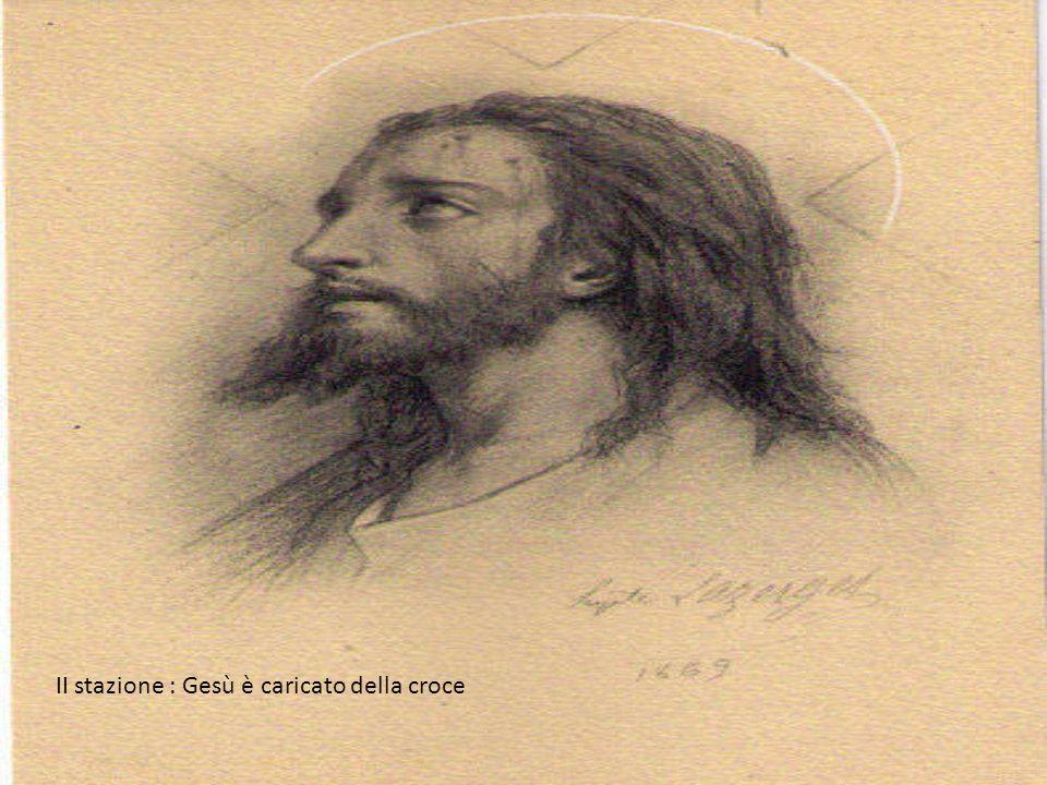 XIII stazione : Gesù è deposto dalla croce e consegnato alla Madre