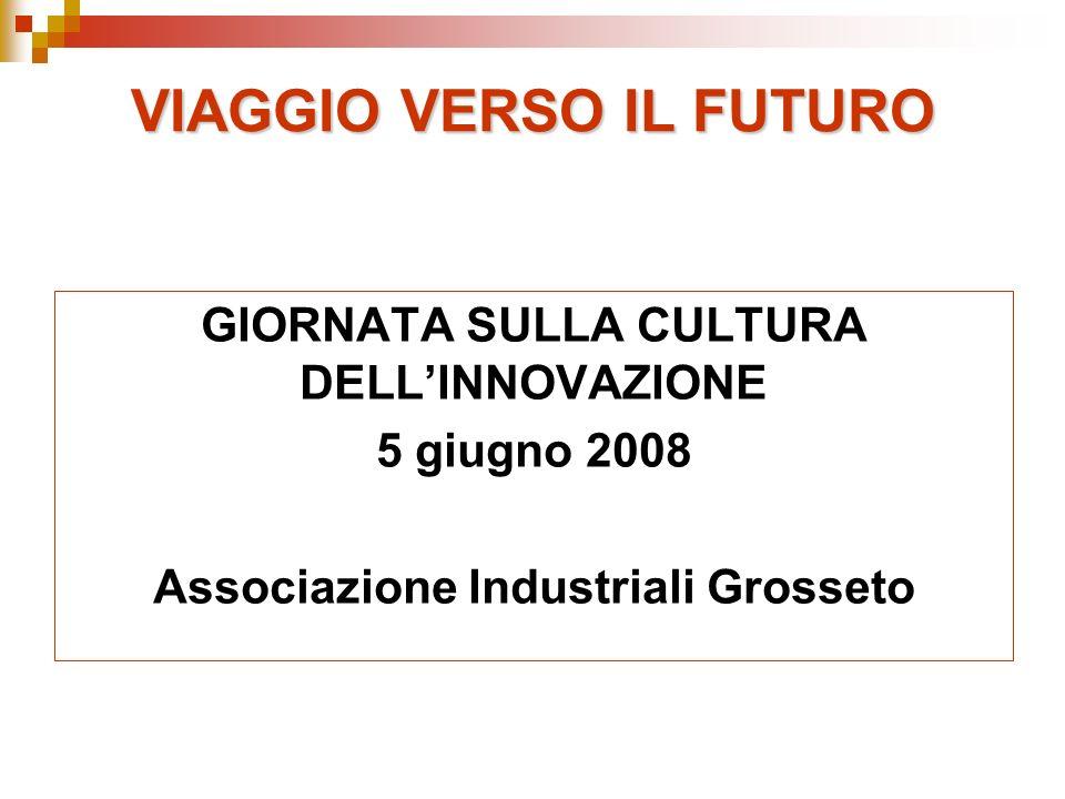 VIAGGIO VERSO IL FUTURO GIORNATA SULLA CULTURA DELLINNOVAZIONE 5 giugno 2008 Associazione Industriali Grosseto