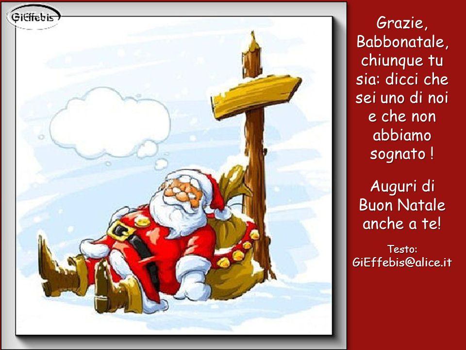 … un gesto di grande altruismo: ora si, che è davvero Natale!