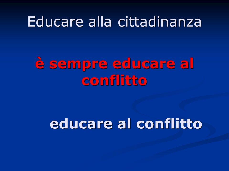 Educare alla cittadinanza è sempre educare al conflitto educare al conflitto