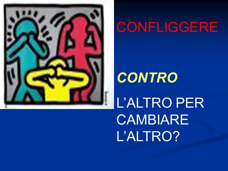 CONFLIGGERE CONTRO LALTRO PER CAMBIARE LALTRO?