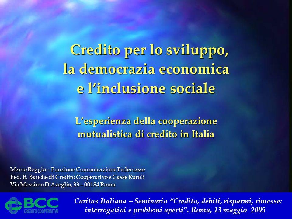 Caritas Italiana – Seminario Credito, debiti, risparmi, rimesse: interrogativi e problemi aperti. Roma, 13 maggio 2005 Credito per lo sviluppo, Credit
