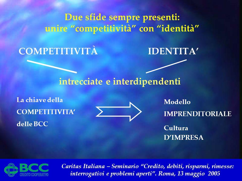 Caritas Italiana – Seminario Credito, debiti, risparmi, rimesse: interrogativi e problemi aperti. Roma, 13 maggio 2005 Due sfide sempre presenti: unir