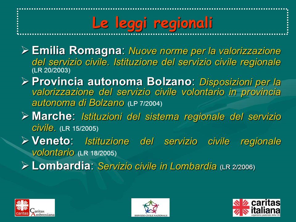 Emilia Romagna: Nuove norme per la valorizzazione del servizio civile.