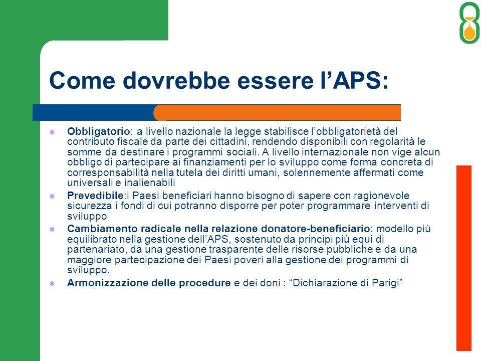 Come dovrebbe essere lAPS: Obbligatorio: a livello nazionale la legge stabilisce lobbligatorietà del contributo fiscale da parte dei cittadini, renden