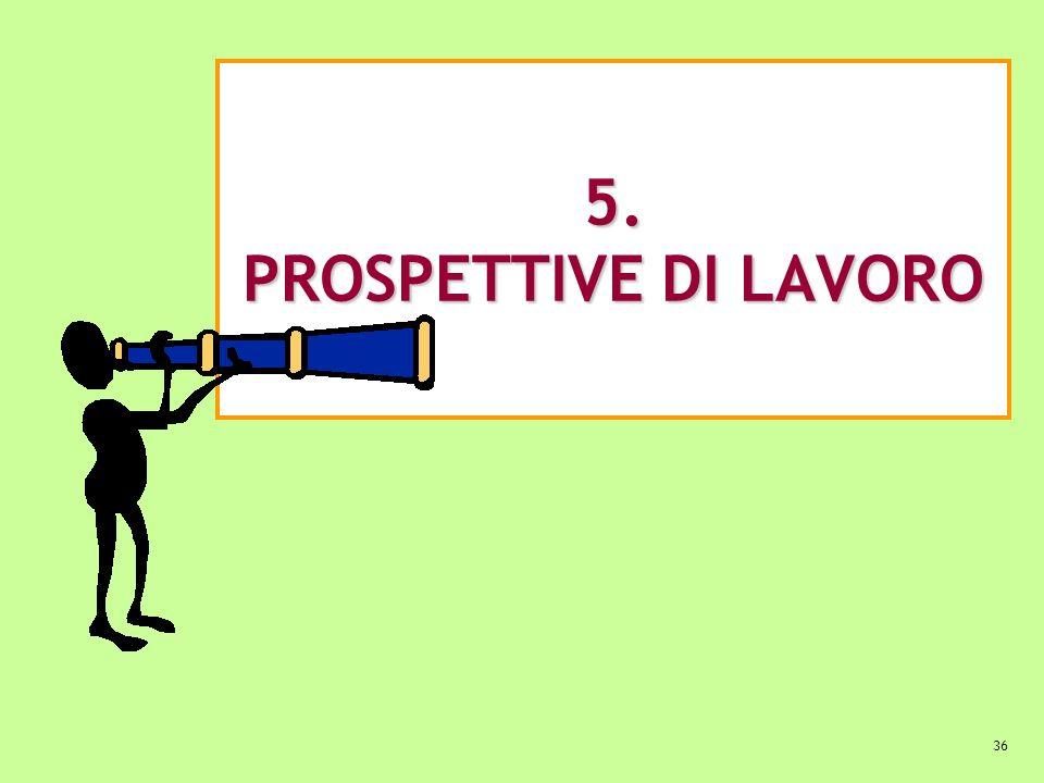 36 5. PROSPETTIVE DI LAVORO