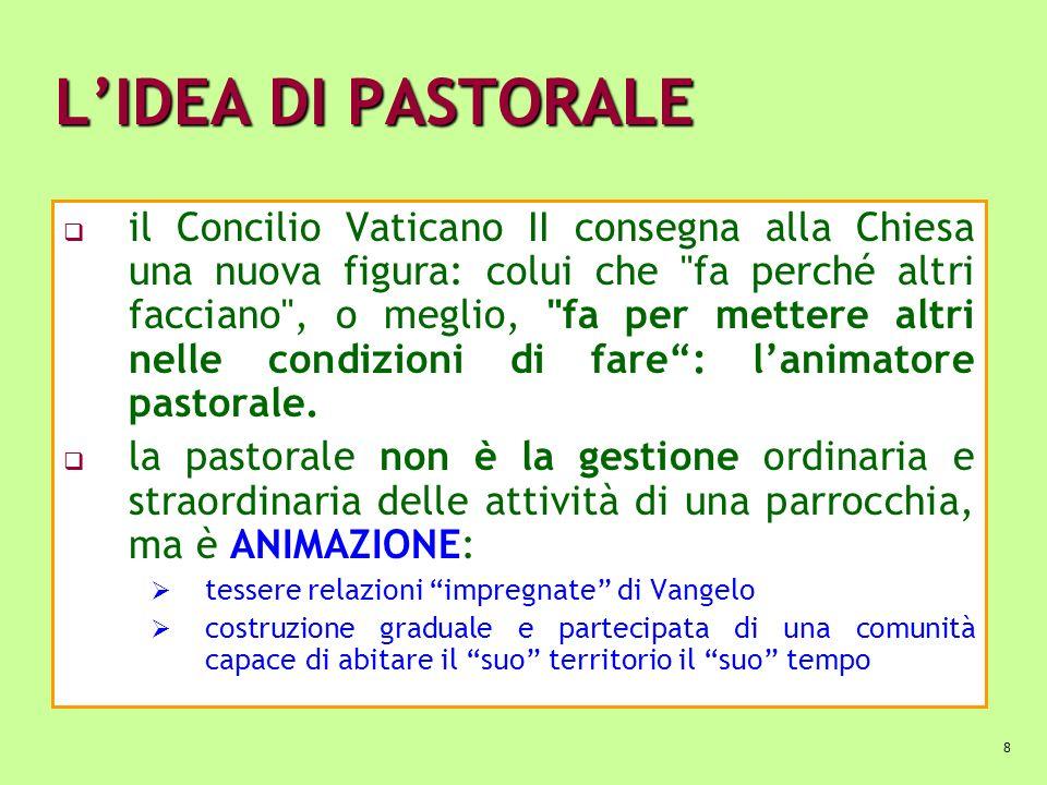 8 LIDEA DI PASTORALE il Concilio Vaticano II consegna alla Chiesa una nuova figura: colui che