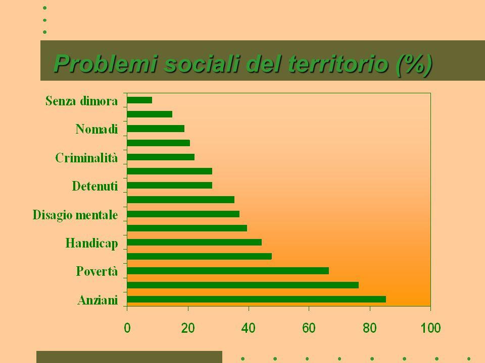 Problemi sociali del territorio (%)