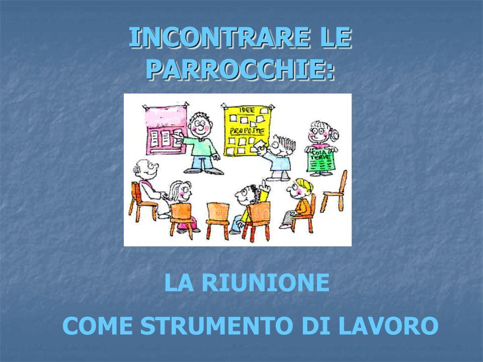 INCONTRARE LE PARROCCHIE: LA RIUNIONE COME STRUMENTO DI LAVORO