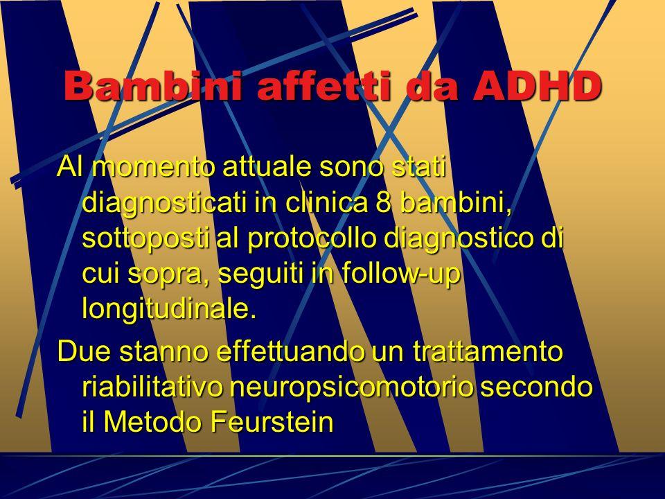 Risultati attesi e ricadute per il Servizio SOCIO-Sanitario. Riscontro di caratteristiche cliniche, comportamentali, cognitive suggestive di ADHD Risc