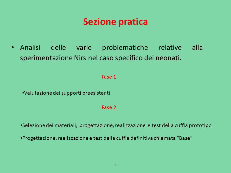 Sezione pratica Analisi delle varie problematiche relative alla sperimentazione Nirs nel caso specifico dei neonati.