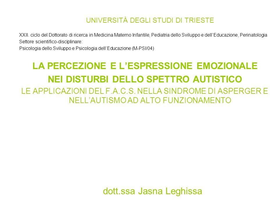 UNIVERSITÀ DEGLI STUDI DI TRIESTE XXII.