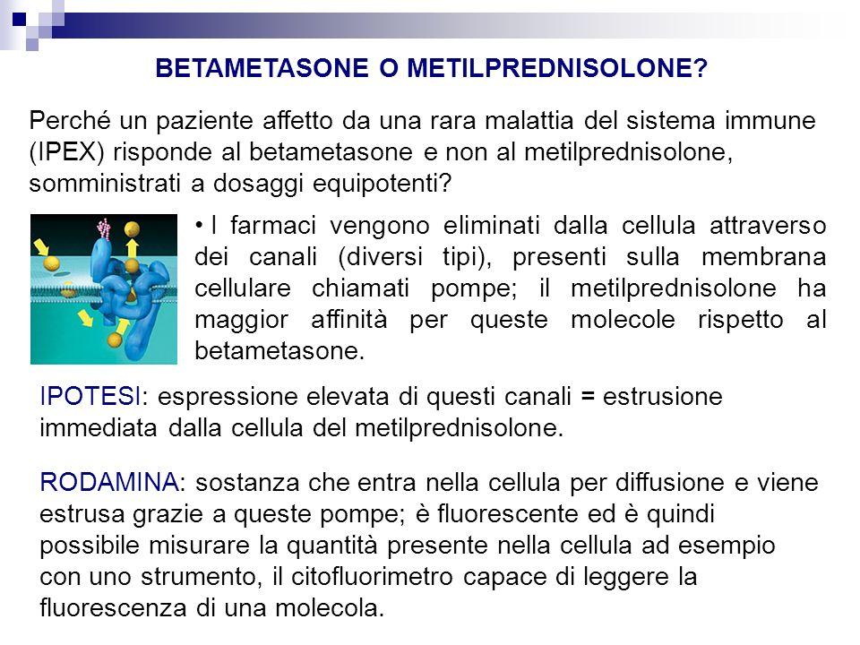BETAMETASONE O METILPREDNISOLONE.