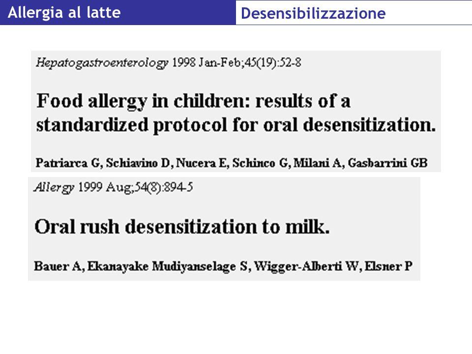 Allergia al latte Desensibilizzazione