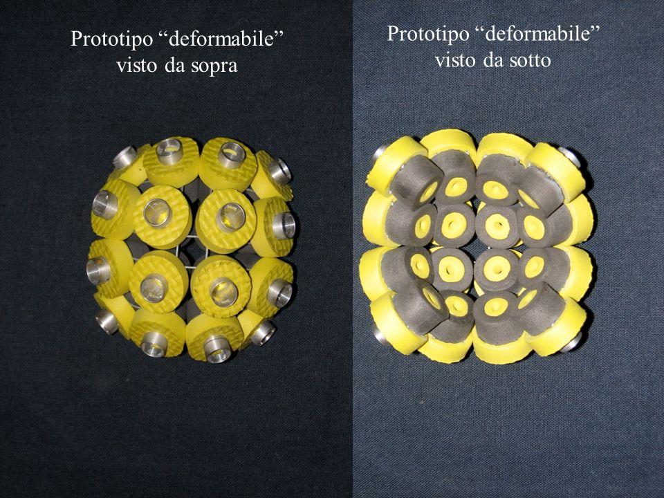 Prototipo deformabile visto da sopra Prototipo deformabile visto da sotto