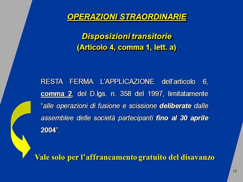 18 RESTA FERMA LAPPLICAZIONE dellarticolo 6, comma 2, del D.lgs.