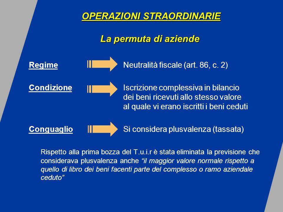 RegimeNeutralità fiscale (art. 86, c.