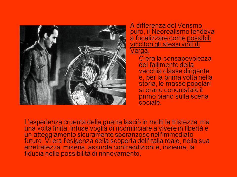 «Il Neorealismo non fu una scuola, ma un insieme di voci, in gran parte periferiche, una molteplice scoperta delle diverse Italie, specialmente delle Italie fino allora più sconosciute dalla letteratura. (Italo Calvino, Prefazione a Il sentiero dei nidi di ragno.) http://www.youtube.com/watch?v=Myo2vOIGvLQ