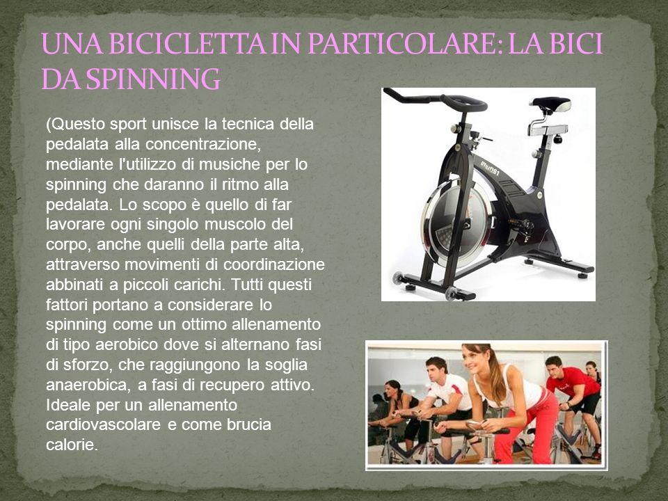 (Questo sport unisce la tecnica della pedalata alla concentrazione, mediante l'utilizzo di musiche per lo spinning che daranno il ritmo alla pedalata.