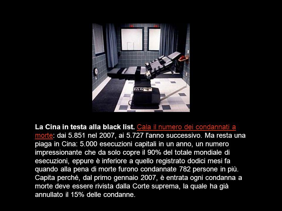 La Cina in testa alla black list.