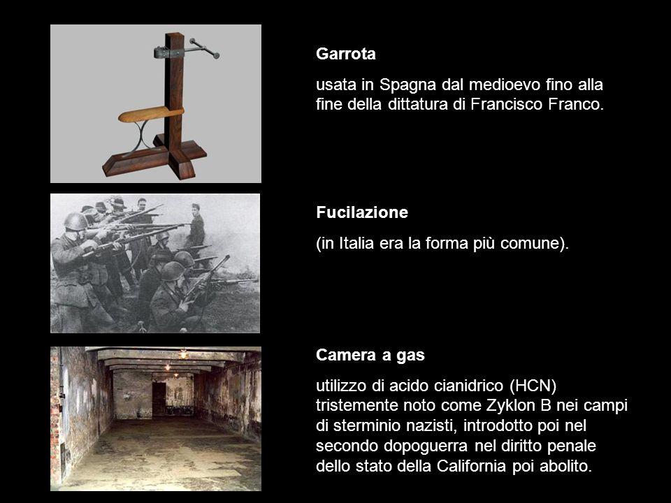 Garrota usata in Spagna dal medioevo fino alla fine della dittatura di Francisco Franco.