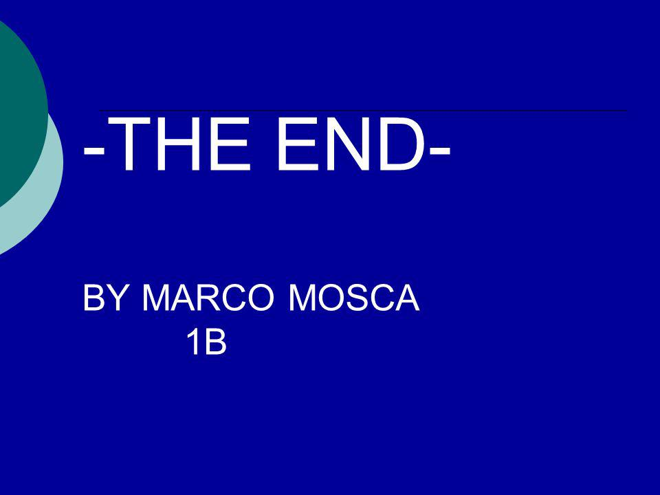 -THE END- BY MARCO MOSCA 1B