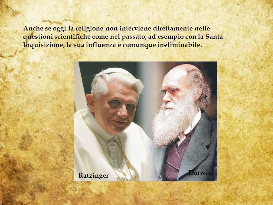 Anche se oggi la religione non interviene direttamente nelle questioni scientifiche come nel passato, ad esempio con la Santa Inquisizione, la sua influenza è comunque ineliminabile.