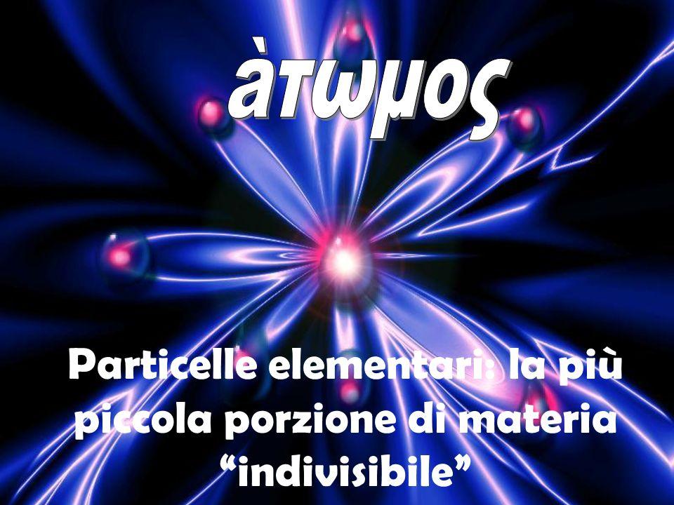 Particelle elementari: la più piccola porzione di materia indivisibile