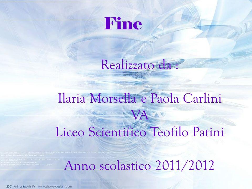 Realizzato da : Ilaria Morsella e Paola Carlini VA Liceo Scientifico Teofilo Patini Anno scolastico 2011/2012 Fine