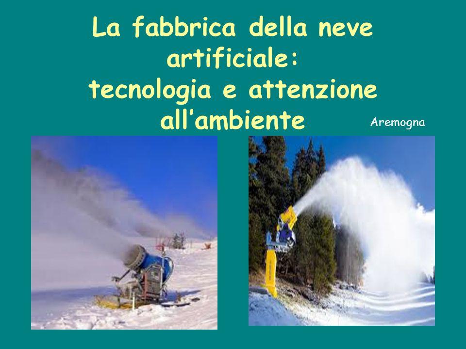 La fabbrica della neve artificiale: tecnologia e attenzione allambiente Aremogna