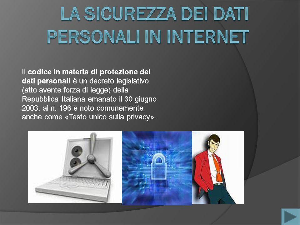 Il codice in materia di protezione dei dati personali è un decreto legislativo (atto avente forza di legge) della Repubblica Italiana emanato il 30 giugno 2003, al n.