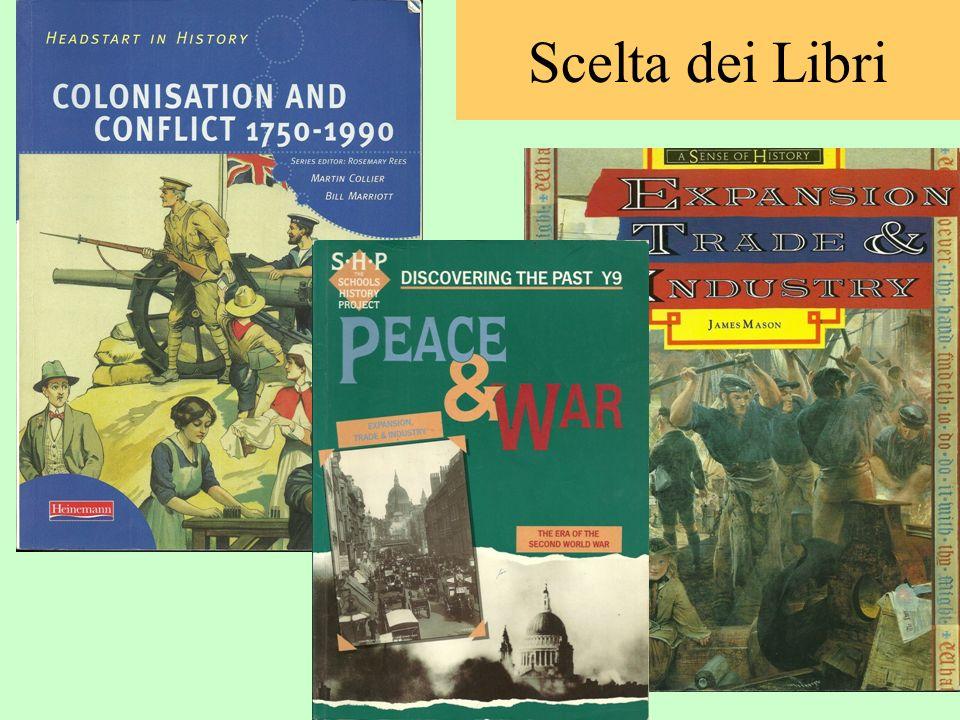 Oltre al materiale on line vengono utilizzati libri di scuola inglesi Scelta dei Libri