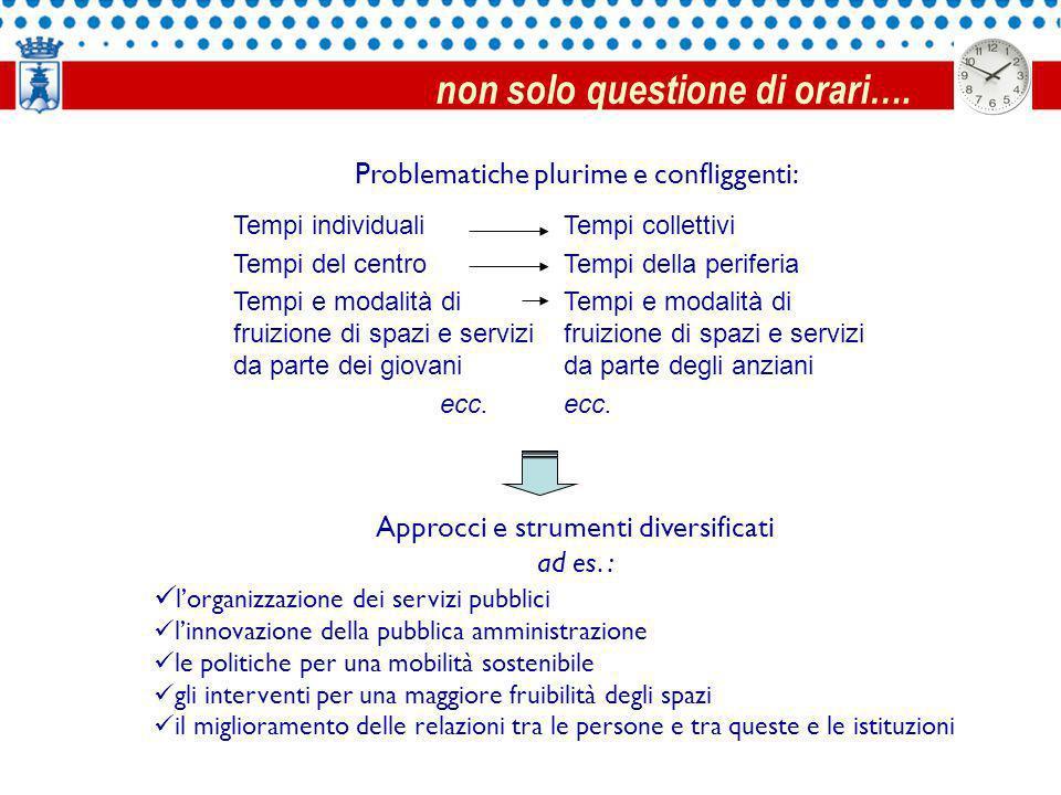 Problematiche plurime e confliggenti: Approcci e strumenti diversificati ad es.