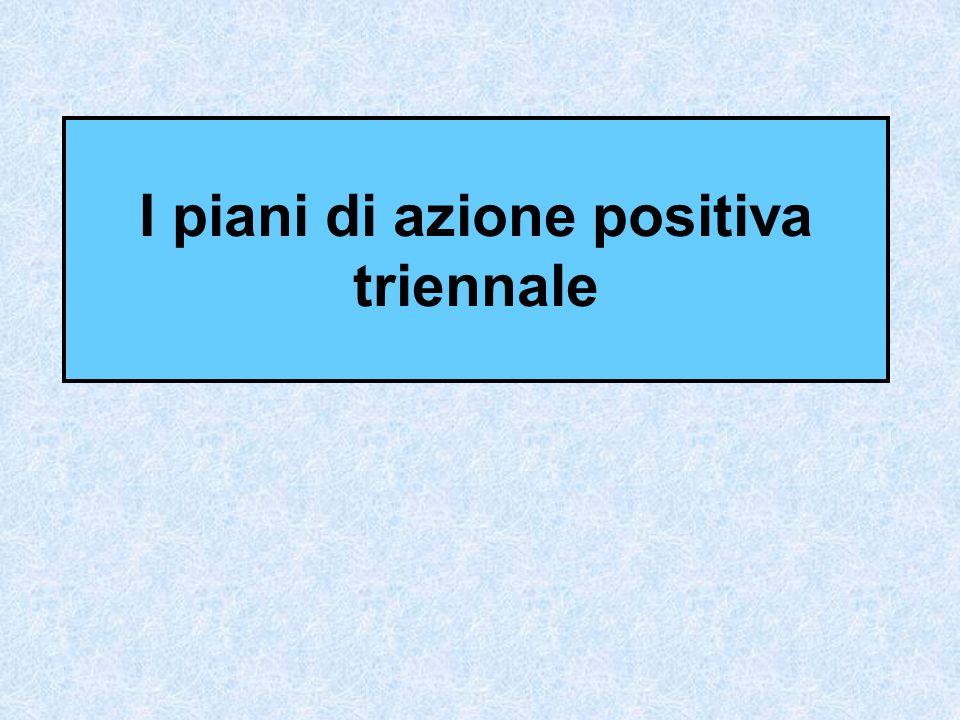I piani di azione positiva triennale
