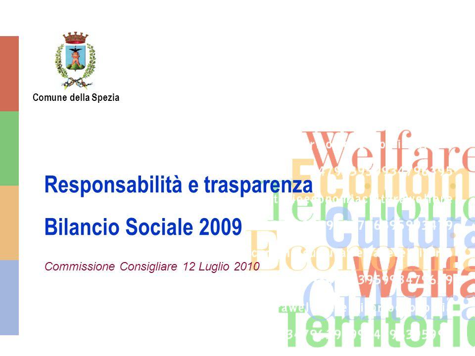 Comune della Spezia Responsabilità e trasparenza Bilancio Sociale 2009 Commissione Consigliare 12 Luglio 2010