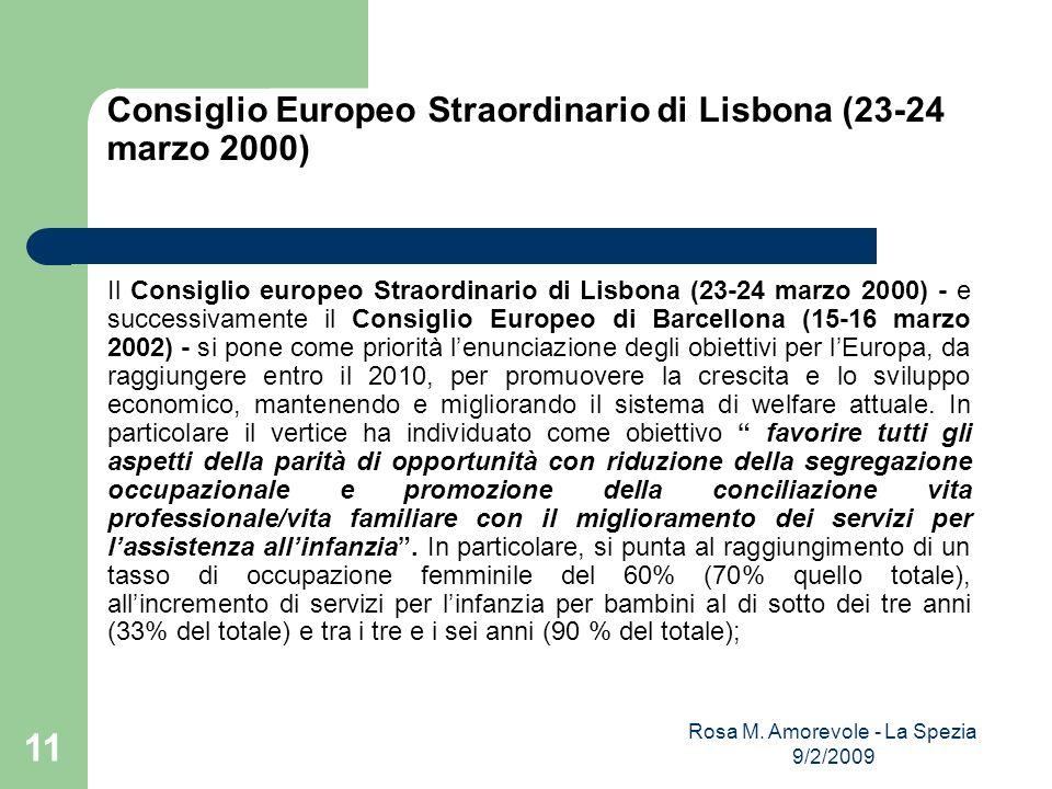 Consiglio Europeo Straordinario di Lisbona (23-24 marzo 2000) Il Consiglio europeo Straordinario di Lisbona (23-24 marzo 2000) - e successivamente il